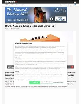 Orange Micro Crush Pix3 & Micro Crush Stereo