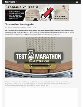 Testmarathon Puresound-Snareteppiche