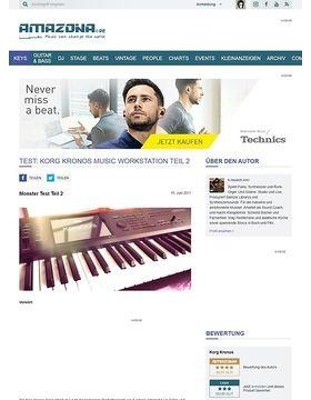 Test: Korg Kronos Music Workstation Teil 2