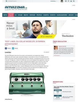 Test: Line6, DL4 Delay Modeler, Gitarren-Effektgerät