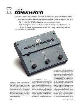 Basswitch IQ DI, Bass-Preamp & Schaltzentrale