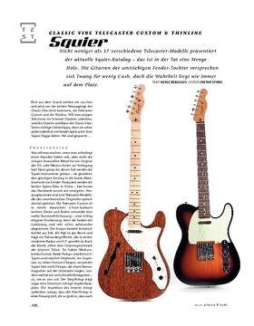 Squier Classic Vibe Telecaster Custom & Thinline, E-Gitarren