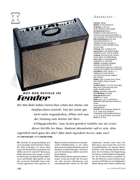 Fender Hot Rod DeVille III, Röhren-Combo