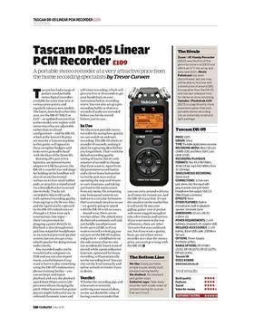 Tascam DR-05 Linear PCM Recorder