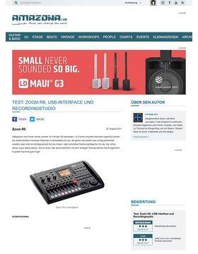 Test: Zoom R8, USB-Interface und Recordingstudio