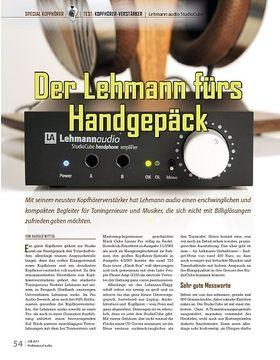 Der Lehmann fürs  Handgepäck: Lehmann audio StudioCube