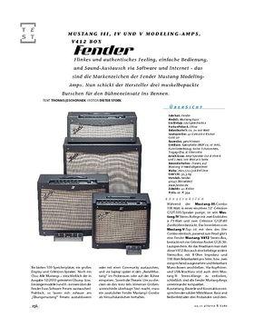 Fender Mustang III, IV und V, Modeling-Amps