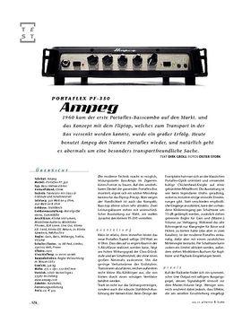 Ampeg Portflex PF-350, Bass-Top
