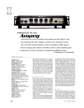 Ampeg Portflex PF-350, Bass-Top