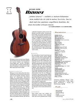Ibanez AC240-OPN, A-Gitarren