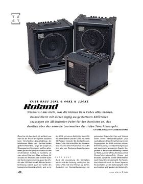 Roland Cube Bass 20XL & 60XL & 120XL, Bass-Combos