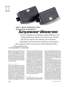 Seymour Duncan AHB-3 Mick Thomson EMTY Signature Blackouts