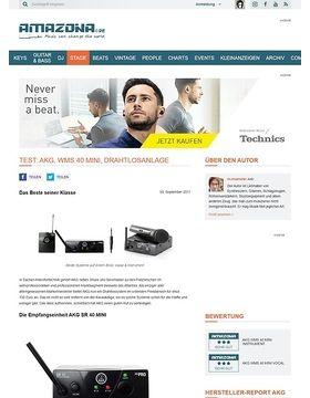 Test: AKG, WMS 40 MINI, Vocal Set und Instrumental Set, Drahtlossysteme