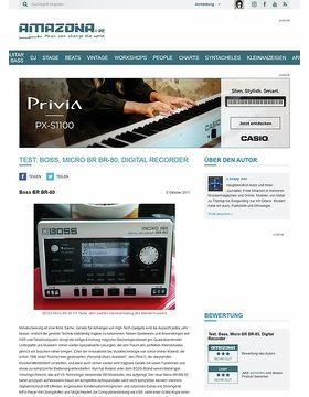 Test: Boss, Micro BR BR-80, Digital Recorder