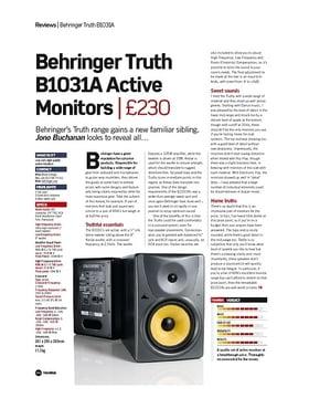 Behringer Truth B1031A Active Monitors