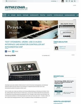 Test: Steinberg, UR28M, USB 2.0 Audio-Interface und Monitor-Controller mit integriertem DSP