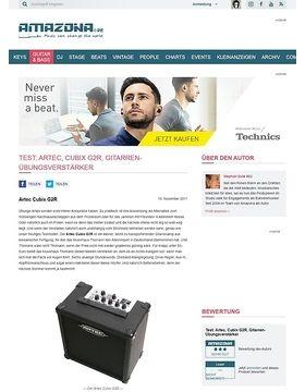 Test: Artec, Cubix G2R, Gitarren-Übungsverstärker