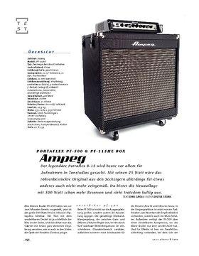 Ampeg Portaflex PF-500 & PF-115HE, Bass-Anlage
