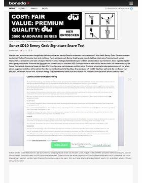Sonor SD10 Benny Greb Signature Snare