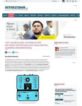 Test: Source Audio, Soundblox Pro Multiwave Distortion & Hot Hand Control, Gitarren-Verzerrerpedal