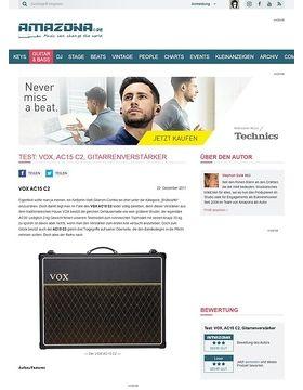 Test: VOX, AC15 C2, Gitarrenverstärker