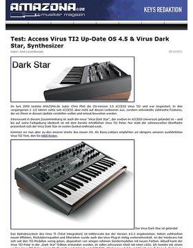 Test: Access Virus TI2 Up-Date OS 4.5 & Virus Dark Star, Synthesizer