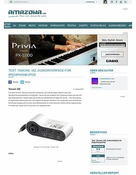 Test: Tascam, iXZ, Audiointerface für iPad/iPhone/iPod
