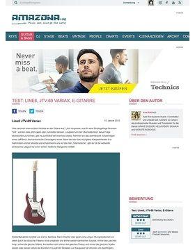 Test: Line6, JTV-69 Variax, E-Gitarre