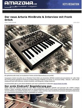 Preview: Arturia MiniBrute, Analog-Synthesizer