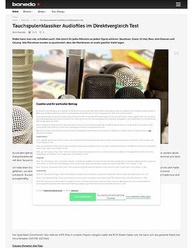 Tauchspulenklassiker Audiofiles im Direktvergleich
