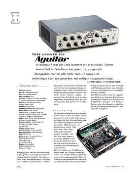 Aguilar Tone Hammer 500, Bass-Top