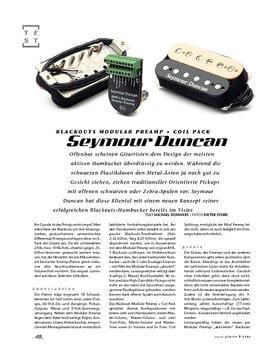Seymour Duncan Blackouts Modular Preamp + Coil Pack