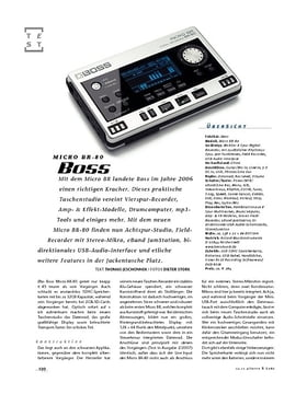 Boss Micro BR-80, Recorder