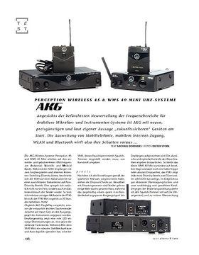 AKG Perception Wireless 45 & WMS 40 Mini UHF-Systeme