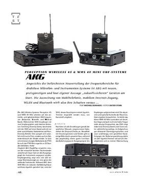 AKG Perception Wireless 45 & WMS 40 Mini UHF-Systeme