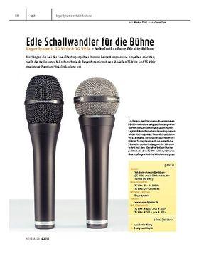 Beyerdynamic TG V90r & TG V96c – Vokalmikrofone für die Bühne