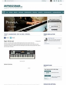 Test: Hammond, SK1 & SK2, Orgel