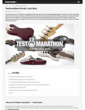 Testmarathon Fender Jazzbass