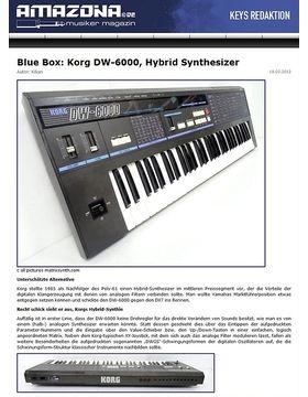 Blue Box: Korg, DW-6000, Hybrid Synthesizer
