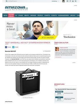 Test: Marshall MG15CF Gitarrenverstärker
