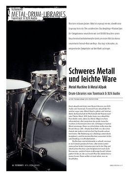 Metal-Drum-Libraries: Metal Machine & Metal ADpak - Drum-Libraries von Toontrack & XLN Audio