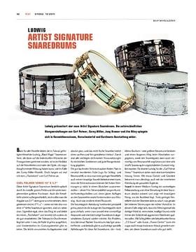 Ludwig Signature Snaredrums Carl Palmer, Joey Kramer, Corey Miller, Jeff Riley