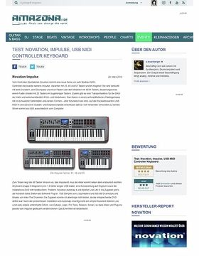 Test: Novation, Impulse, USB MIDI Controller Keyboard