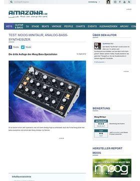 Test: Moog, Minitaur, Bass-Synthesizer