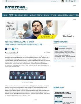 Test: Keith McMillan, 12-Step, Chromatischer USB-Fußcontroller