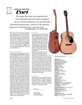 Cort AD810/AD810E, A-Gitarren