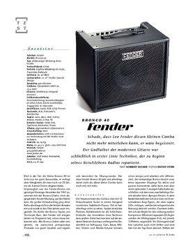 Fender Bronco 40, Bass-Combo