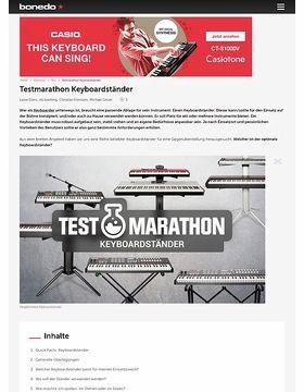 Testmarathon Keyboardständer