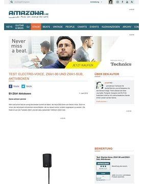 Test: Electro-Voice, ZXA1-90 und ZXA1-Sub, Aktivboxen