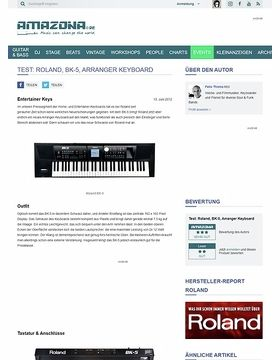 Test: Roland, BK-5, Arranger Keyboard